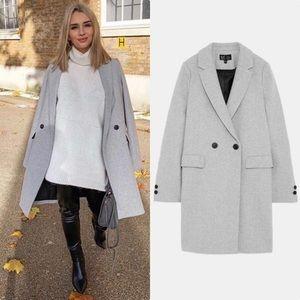 NWT Zara Light Gray Masculine Coat